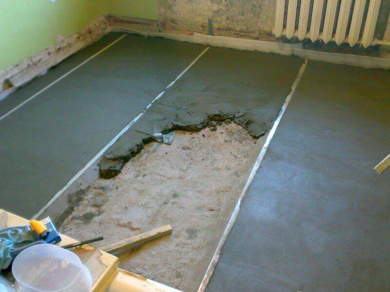 етапи ремонту стяжка підлоги