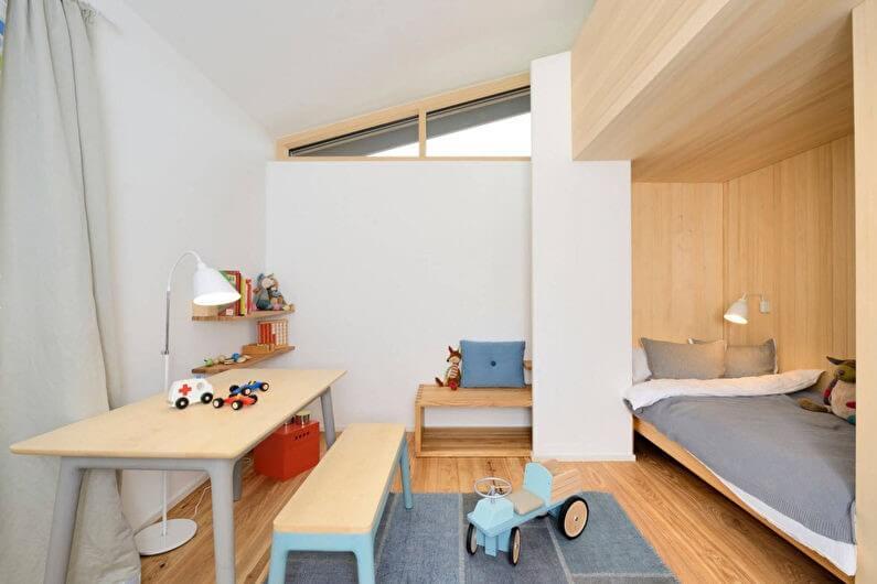 белые стены в комнате для мальчика