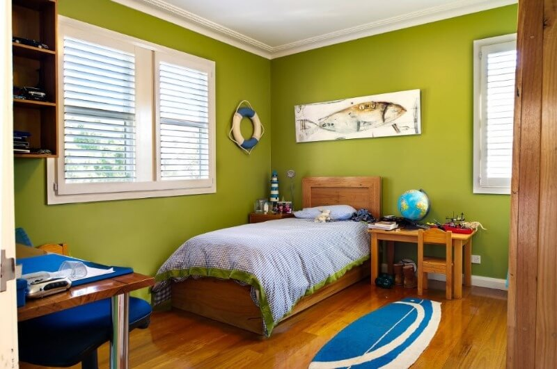 зелена кімната для хлопчика