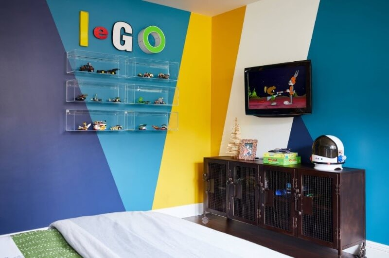 цветовая гамма в комнате мальчика