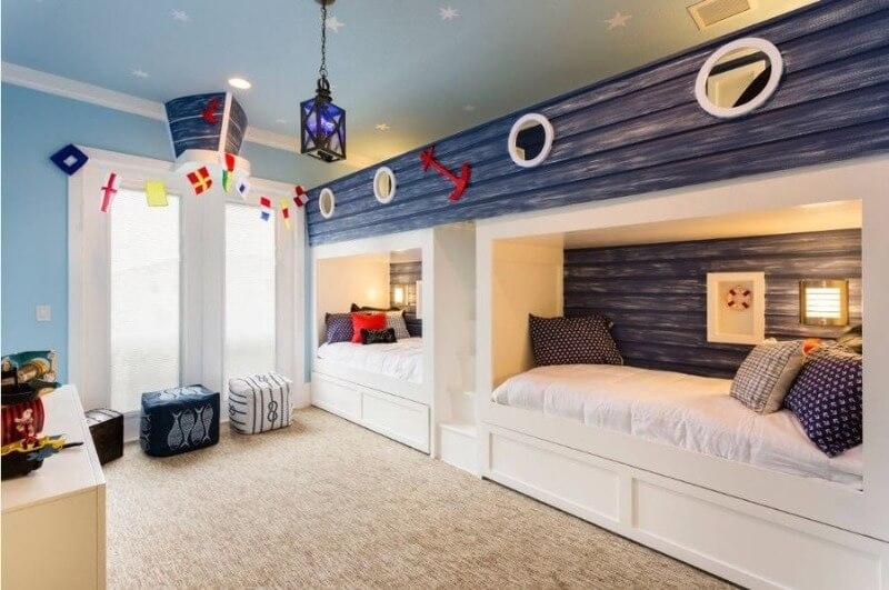 синяя комната для мальчика
