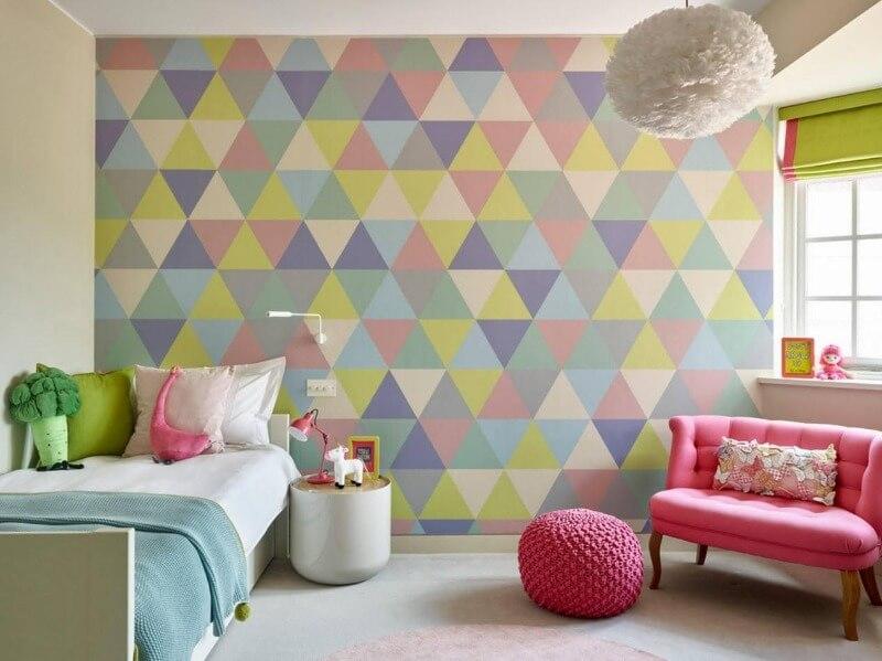 акцентная стена детская комната