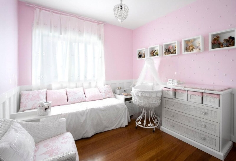 дизайн комнаты для младенца девочки