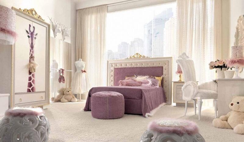 комната девочки в классическом стиле
