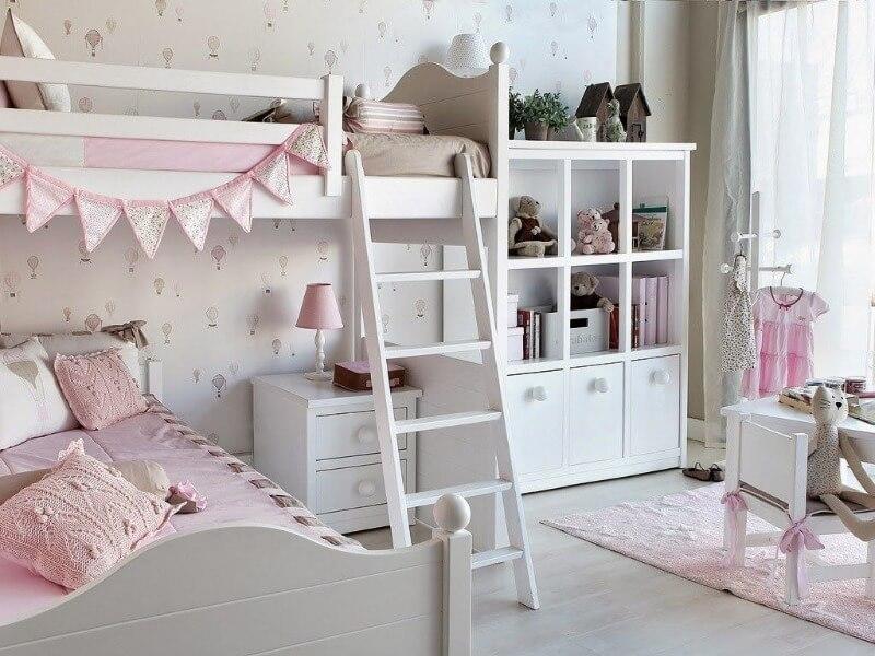 кровать чердак в детской комнате