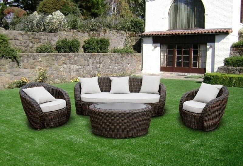 плетеная мебель для сада