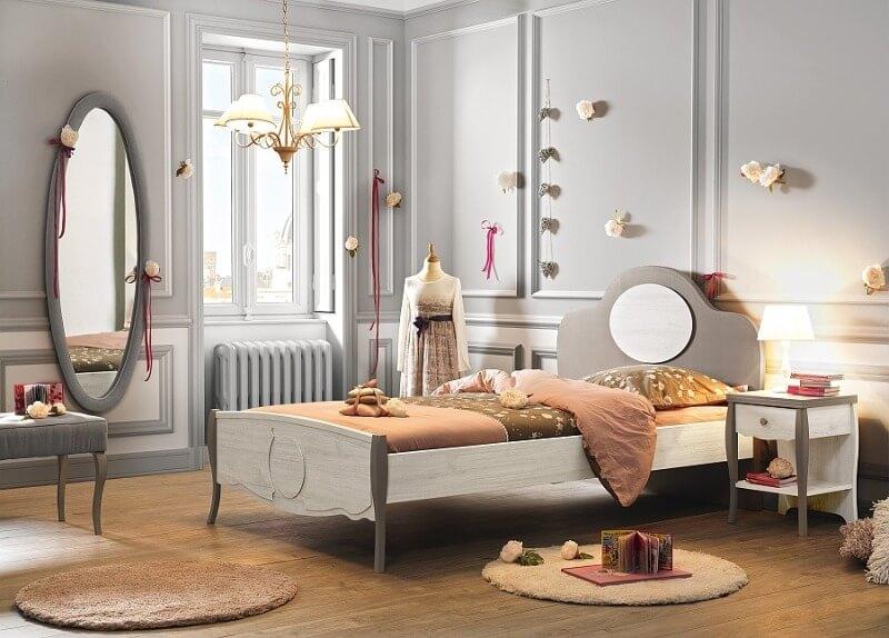 дитяча кімната сірого кольору