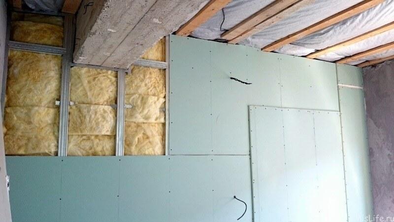 сухой выравнивание стен гипсокартоном