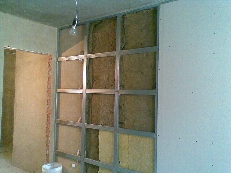 выравнивание стен гипсокартон