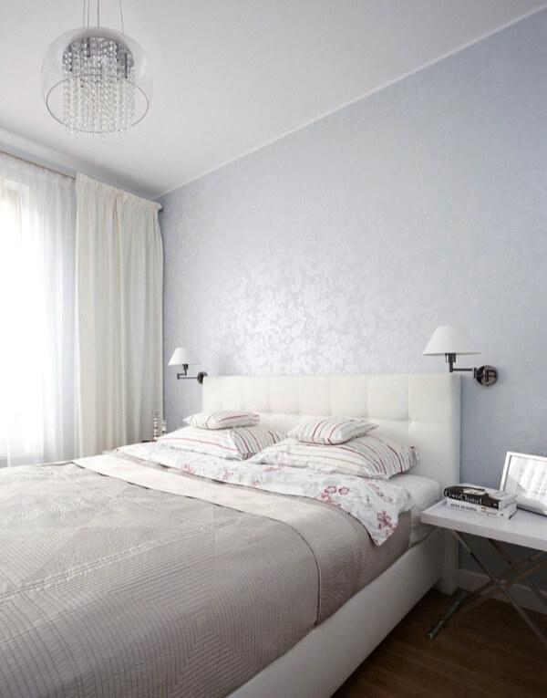 білий колір маленької спальні