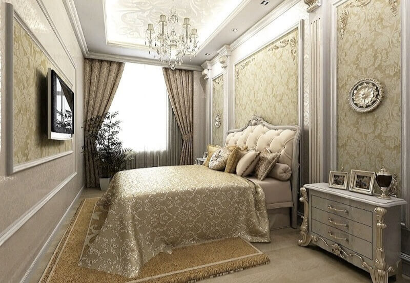 классический стиль маленькая спальня