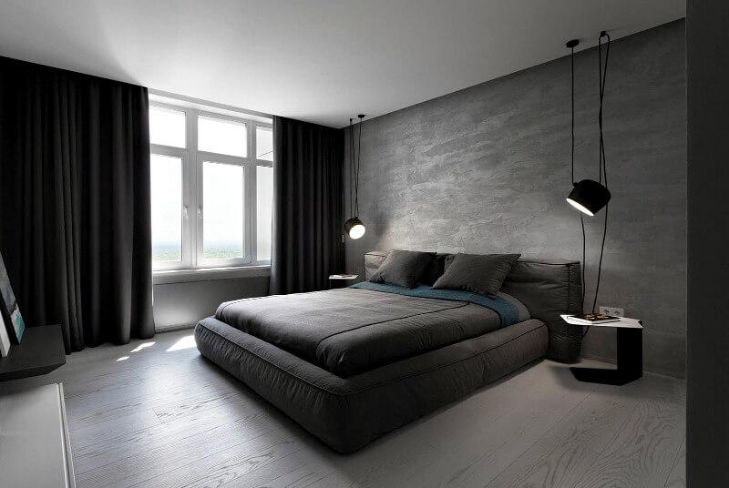велика спальня в стилі мінімалізм