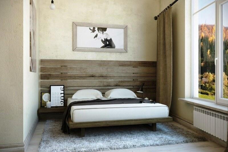 дизайн маленької спальні в стилі мінімалізм