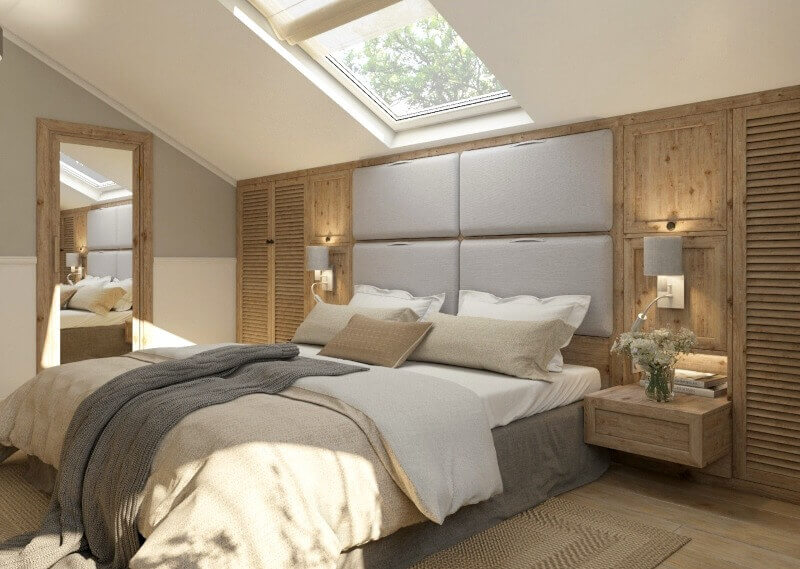дизайн спальні еко стиль