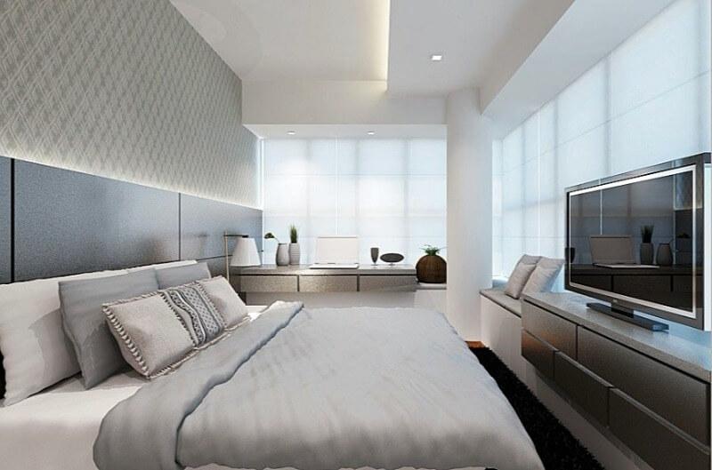 дизайн стелі в спальні