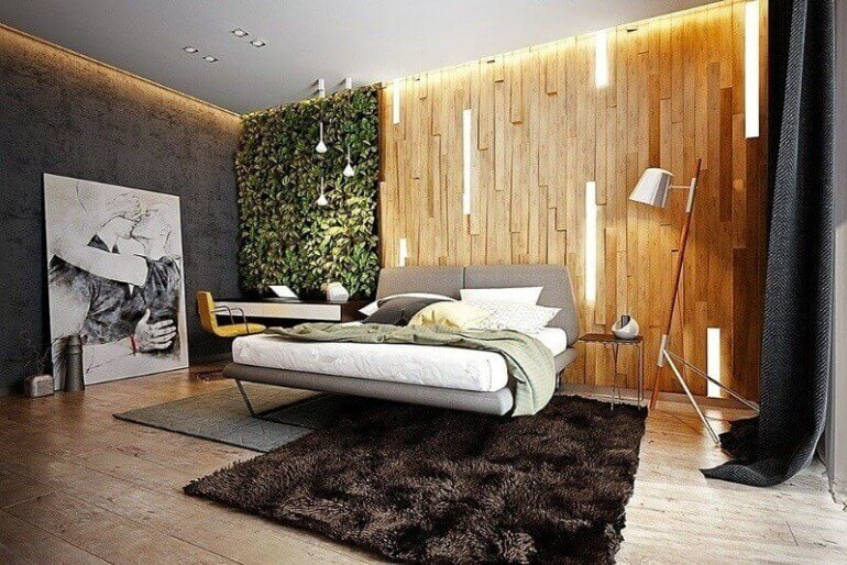оформлення спальні еко стиль