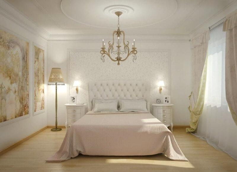 інтер'єр спальні класичний стиль