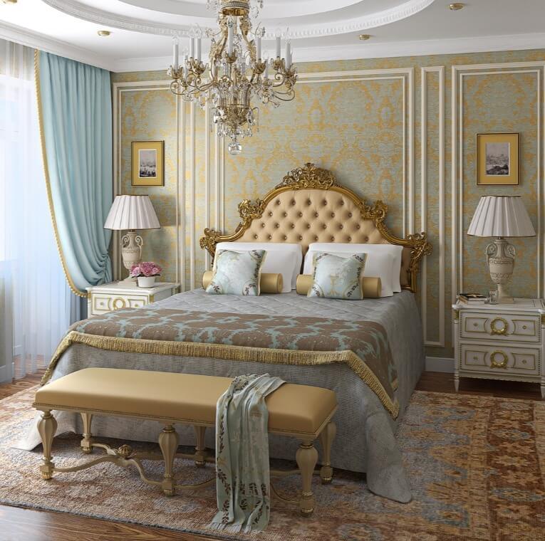 классическая спальня маленькая
