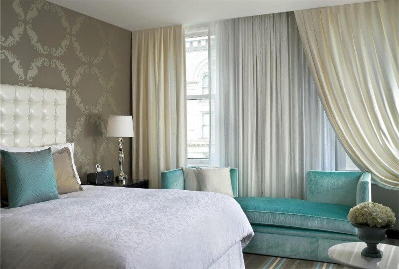 гарне поєднання кольорової гами спальня