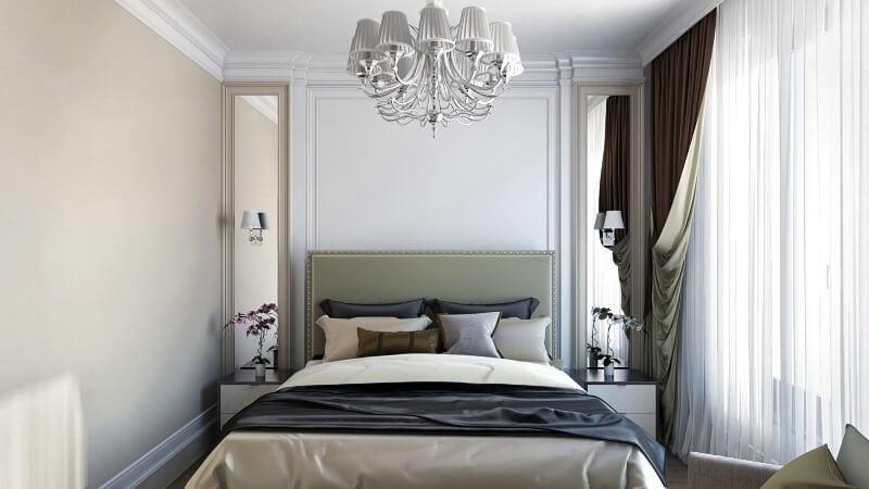 квадратна спальня