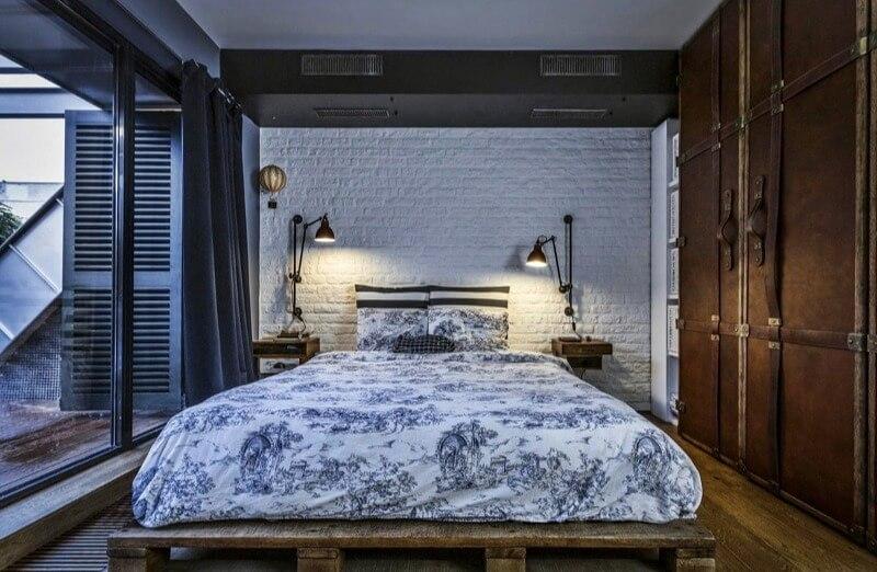 спальня маленька в стилі лофт