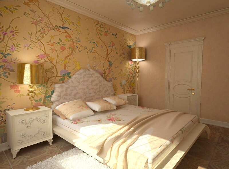 маленька спальня в класичному стилі