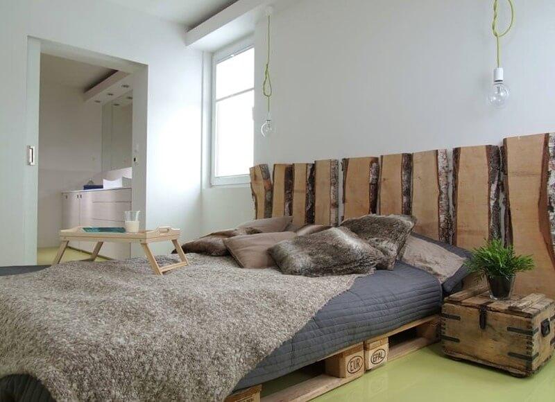 маленькая спальня эко стиль