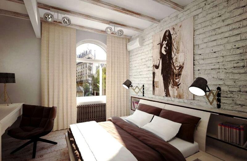 маленька спальня лофт