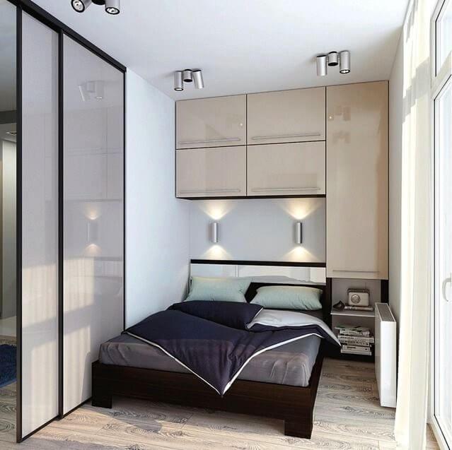 освещение маленькой спальни