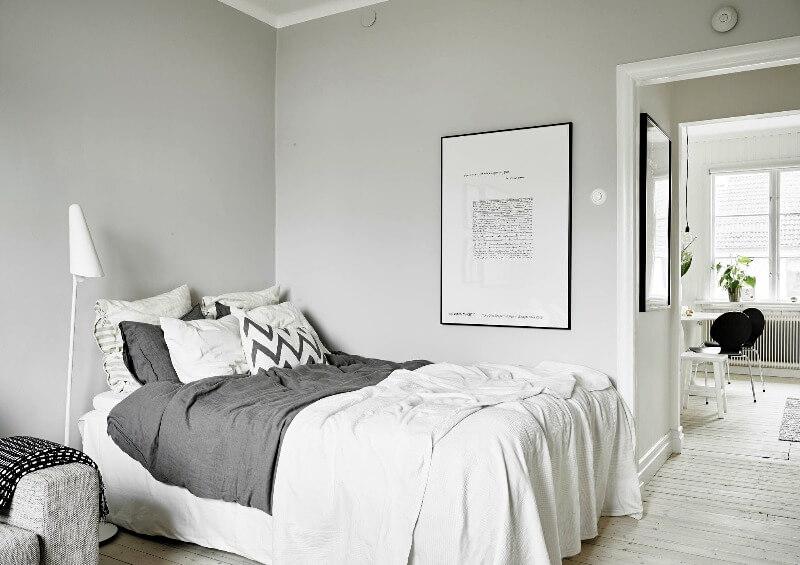 спальня маленькая в скандинавском стиле