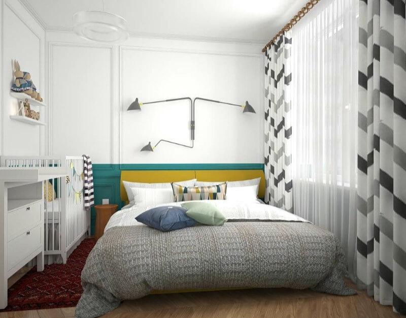 маленька спальня скандинавський стиль