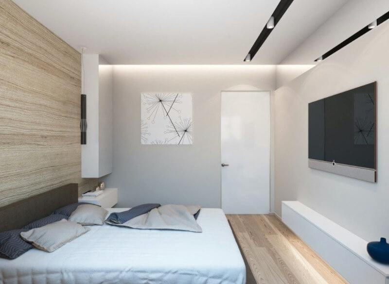 маленькая спальня светлая отделка