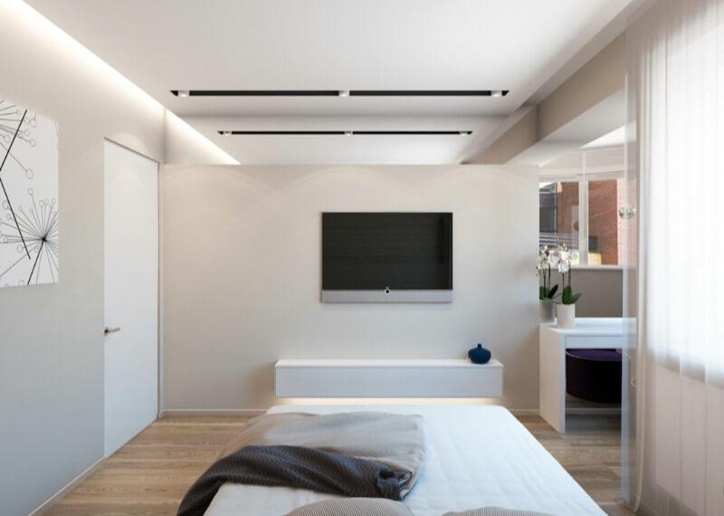 маленька спальня біла