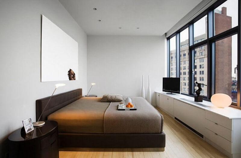 мінімалізм маленька спальня