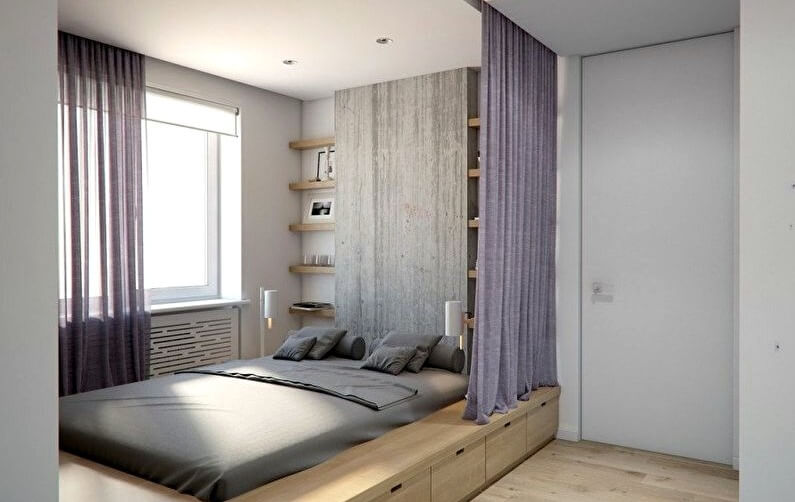 підлога в маленькій спальні