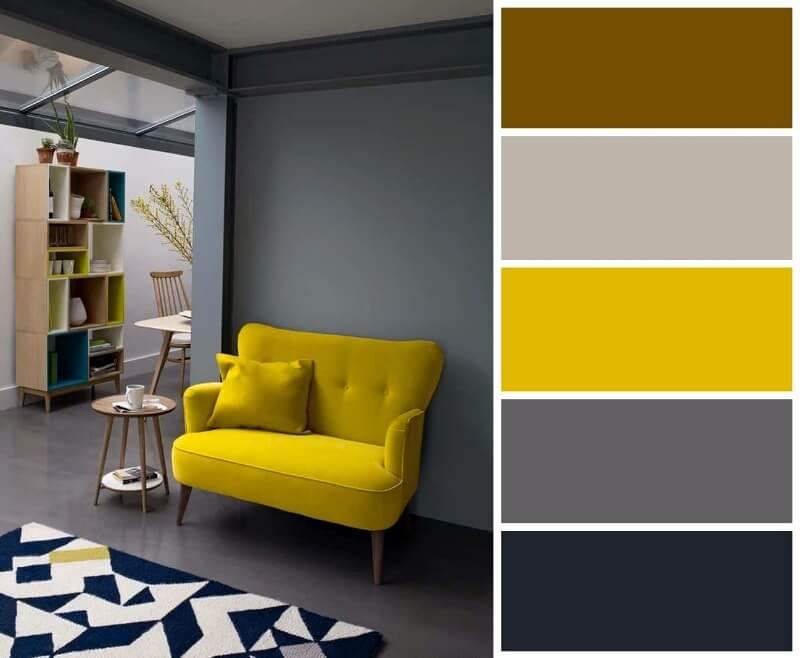 сірий інтер'єр поєднання кольорів