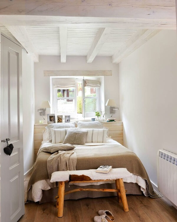 скандинавська маленька спальня