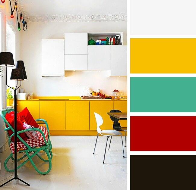 поєднання кольорів в кухні