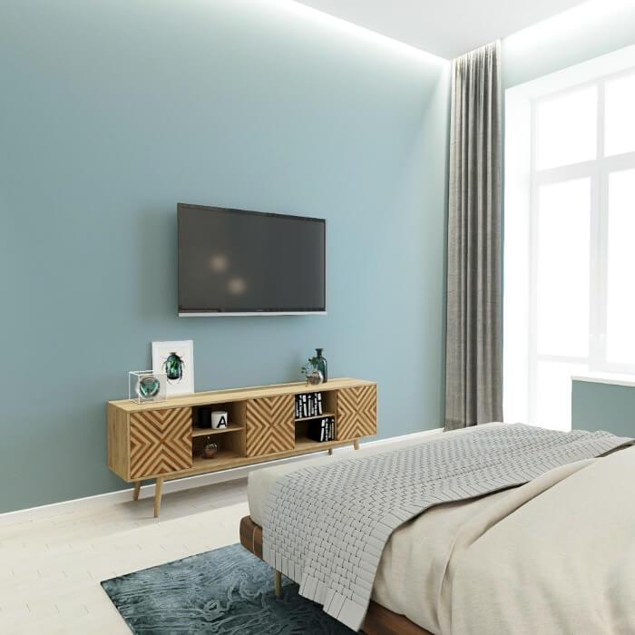 інтер'єр спальні в мятном кольорі