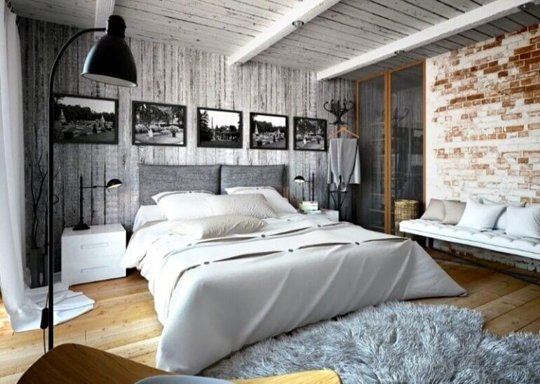 спальня лофт дизайн інтер'єру