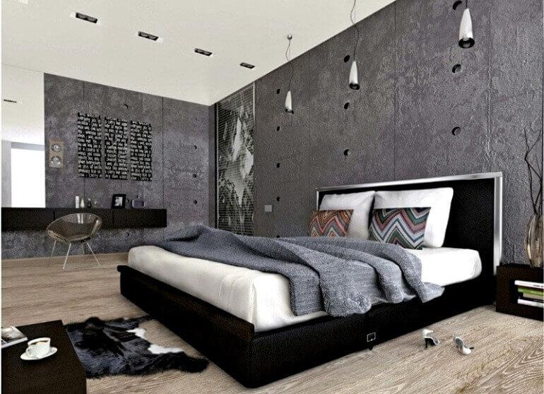 модна спальня лофт