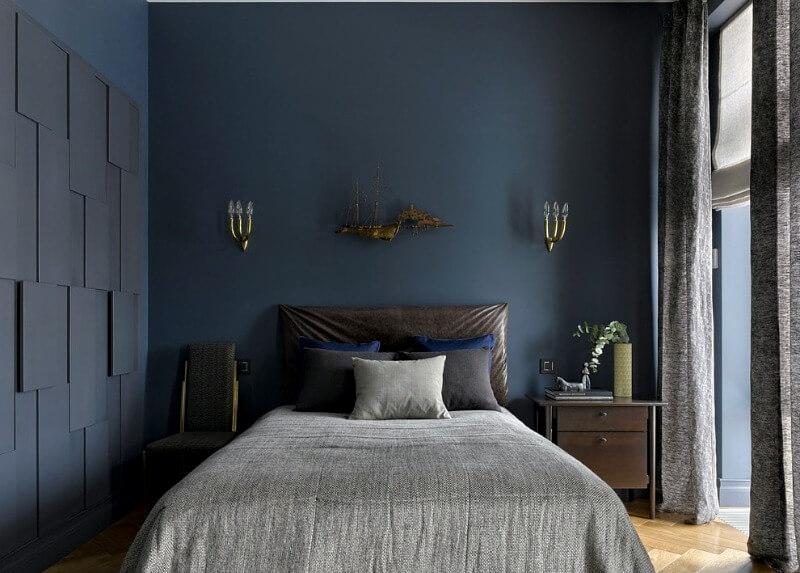 спальня синя