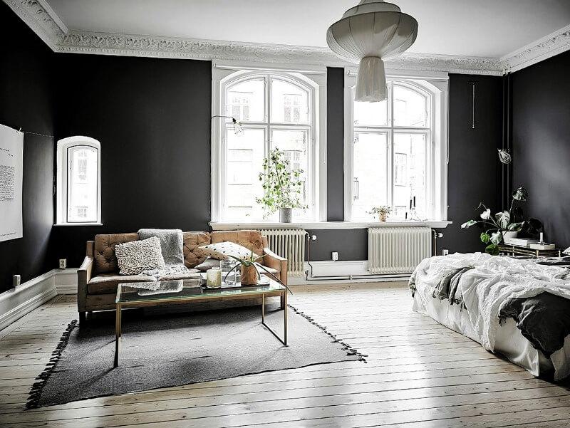 світла підлога темні стіни