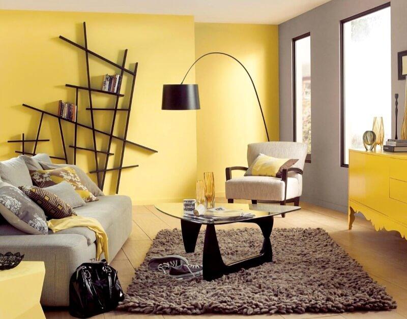 жовтий інтер'єр квартири