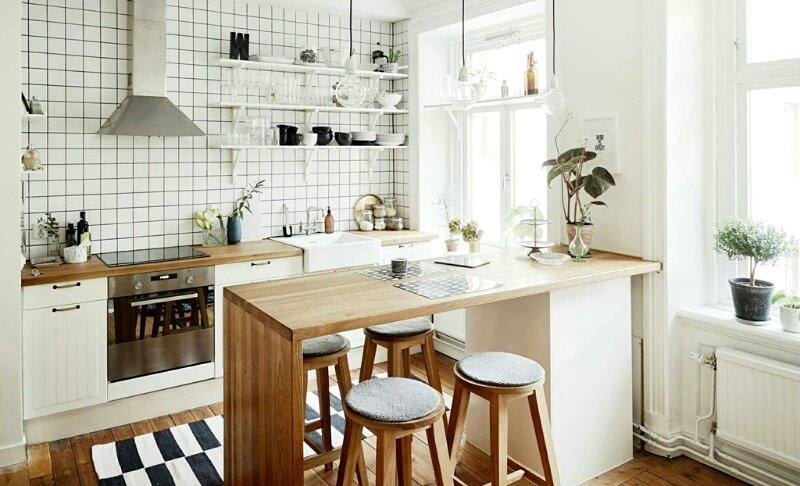 белая кухня студия