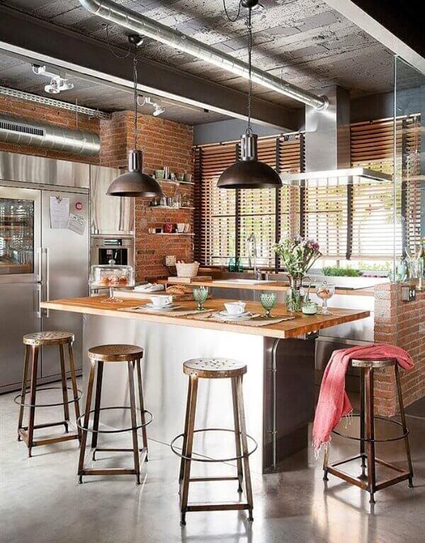 большая кухня студия лофт