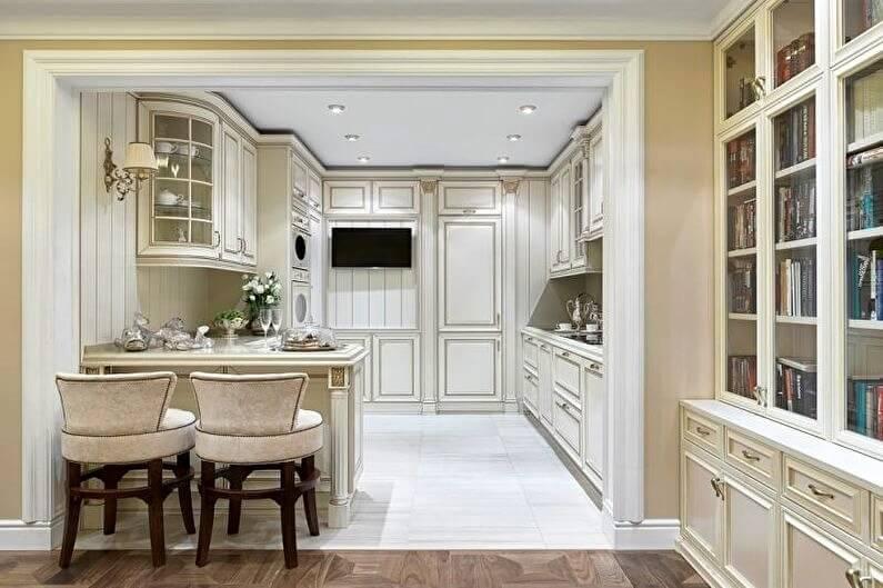 классический дизайн кухни студии