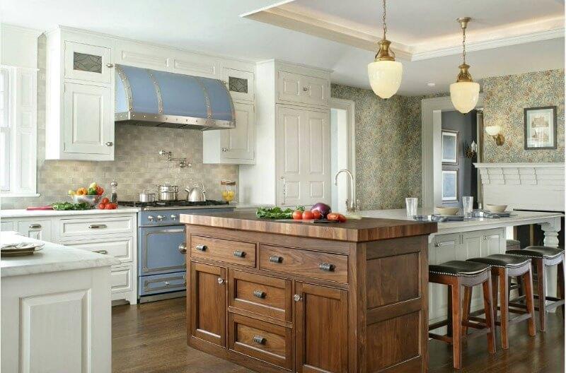кухня студия в пастельных тонах
