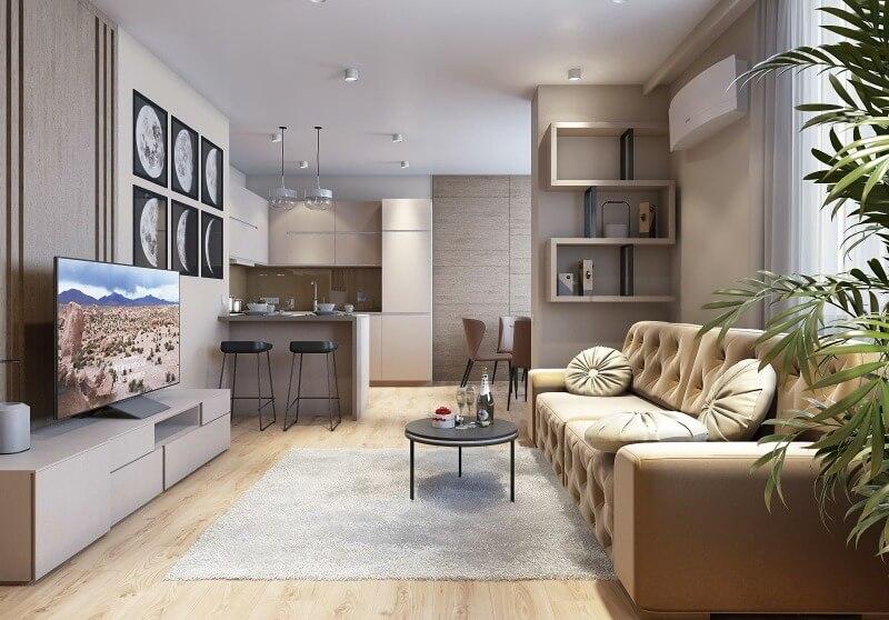 кухня студия в квартире