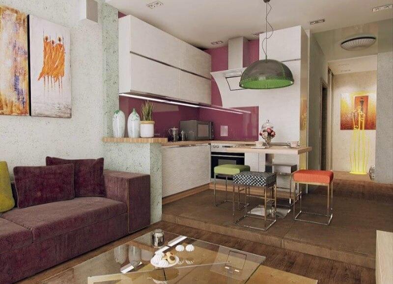 кухня студия подиум